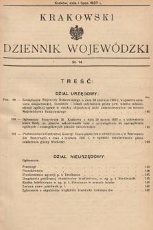 Krakowski Dziennik Wojewódzki. 1937, nr14