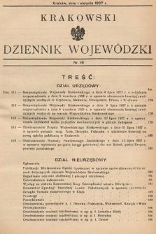 Krakowski Dziennik Wojewódzki. 1937, nr16
