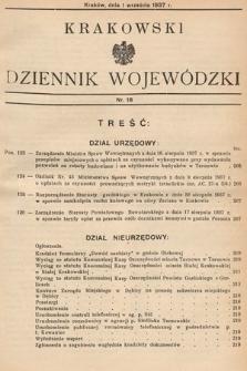 Krakowski Dziennik Wojewódzki. 1937, nr18