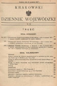Krakowski Dziennik Wojewódzki. 1937, nr19