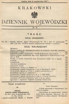 Krakowski Dziennik Wojewódzki. 1937, nr21