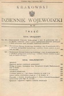 Krakowski Dziennik Wojewódzki. 1937, nr22