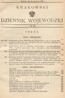 Krakowski Dziennik Wojewódzki. 1937, nr23