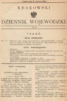 Krakowski Dziennik Wojewódzki. 1938, nr2