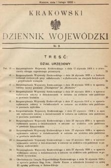 Krakowski Dziennik Wojewódzki. 1938, nr3