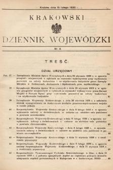 Krakowski Dziennik Wojewódzki. 1938, nr4