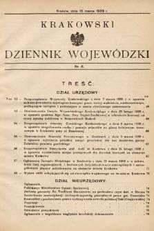 Krakowski Dziennik Wojewódzki. 1938, nr6