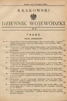 Krakowski Dziennik Wojewódzki. 1938, nr8