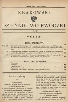Krakowski Dziennik Wojewódzki. 1938, nr13