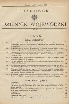 Krakowski Dziennik Wojewódzki. 1938, nr17