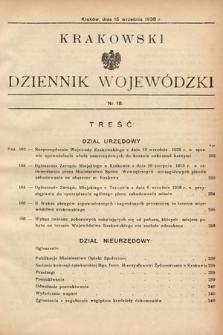 Krakowski Dziennik Wojewódzki. 1938, nr18