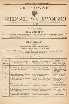 Krakowski Dziennik Wojewódzki. 1938, nr20
