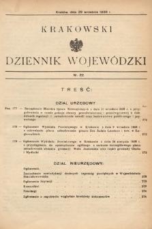 Krakowski Dziennik Wojewódzki. 1938, nr22