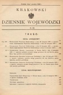 Krakowski Dziennik Wojewódzki. 1938, nr30