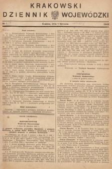 Krakowski Dziennik Wojewódzki. 1949, nr1