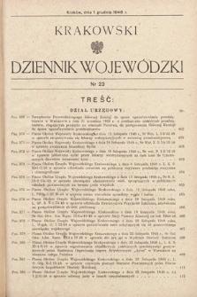 Krakowski Dziennik Wojewódzki. 1948, nr23