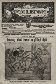 Nowości Illustrowane. 1921, nr11