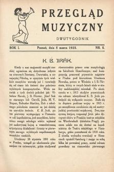 Przegląd Muzyczny. 1925, nr5