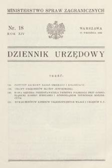 Dziennik Urzędowy. Ministerstwo Spraw Zagranicznych. 1932, nr18