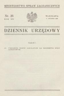 Dziennik Urzędowy. Ministerstwo Spraw Zagranicznych. 1932, nr26