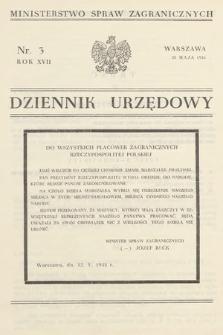 Dziennik Urzędowy. Ministerstwo Spraw Zagranicznych. 1935, nr3