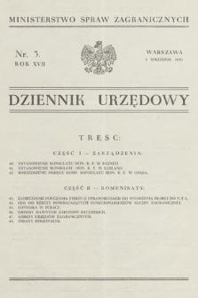 Dziennik Urzędowy. Ministerstwo Spraw Zagranicznych. 1935, nr5