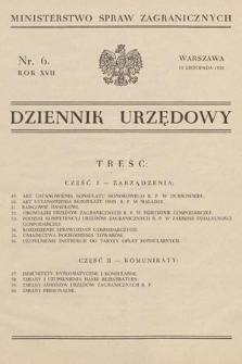 Dziennik Urzędowy. Ministerstwo Spraw Zagranicznych. 1935, nr6