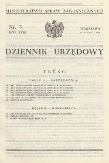 Dziennik Urzędowy. Ministerstwo Spraw Zagranicznych. 1936, nr3