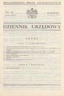 Dziennik Urzędowy. Ministerstwo Spraw Zagranicznych. 1936, nr4