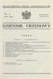 Dziennik Urzędowy. Ministerstwo Spraw Zagranicznych. 1936, nr6