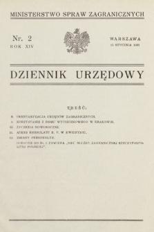Dziennik Urzędowy. Ministerstwo Spraw Zagranicznych. 1932, nr2
