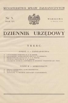 Dziennik Urzędowy. Ministerstwo Spraw Zagranicznych. 1938, nr3