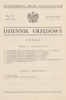 Dziennik Urzędowy. Ministerstwo Spraw Zagranicznych. 1939, nr3