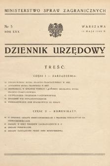 Dziennik Urzędowy. Ministerstwo Spraw Zagranicznych. 1948, nr5