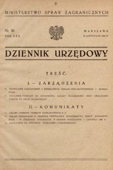 Dziennik Urzędowy. Ministerstwo Spraw Zagranicznych. 1948, nr10