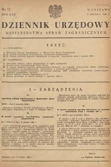 Dziennik Urzędowy Ministerstwa Spraw Zagranicznych. 1948, nr11