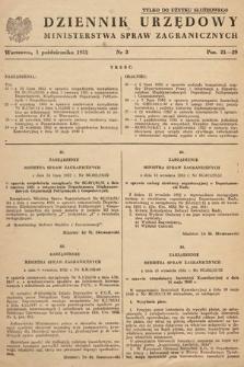 Dziennik Urzędowy Ministerstwa Spraw Zagranicznych. 1952, nr3