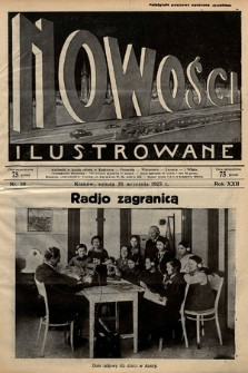 Nowości Ilustrowane. 1925, nr39