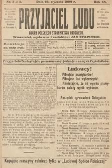 Przyjaciel Ludu : organ Polskiego Stronnictwa Ludowego. 1908, nr3-4