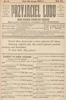 Przyjaciel Ludu : organ Polskiego Stronnictwa Ludowego. 1908, nr8