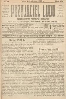 Przyjaciel Ludu : organ Polskiego Stronnictwa Ludowego. 1908, nr14