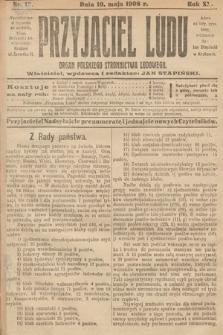 Przyjaciel Ludu : organ Polskiego Stronnictwa Ludowego. 1908, nr19