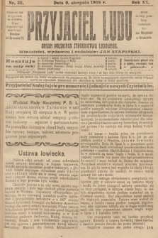 Przyjaciel Ludu : organ Polskiego Stronnictwa Ludowego. 1908, nr32
