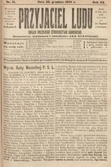 Przyjaciel Ludu : organ Polskiego Stronnictwa Ludowego. 1908, nr51