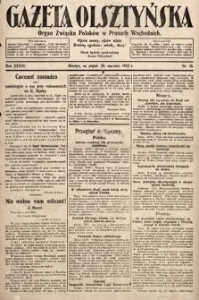 Gazeta Olsztyńska : organ Związku Polaków wPrusach Wschodnich. 1922, nr16