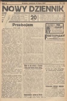 Nowy Dziennik. 1927, nr179
