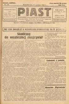 Piast : tygodnik polityczny, społeczny, oświatowy, poświęcony sprawom ludu polskiego : Naczelny organ Polskiego Stronnictwa Ludowego. 1928, nr25