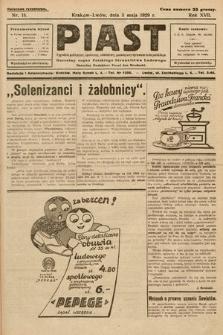 Piast : tygodnik polityczny, społeczny, oświatowy, poświęcony sprawom ludu polskiego : Naczelny organ Polskiego Stronnictwa Ludowego. 1929, nr18