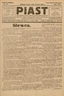 Piast : tygodnik polityczny, społeczny, oświatowy, poświęcony sprawom ludu polskiego : Naczelny organ Polskiego Stronnictwa Ludowego. 1929, nr28