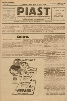 Piast : tygodnik polityczny, społeczny, oświatowy, poświęcony sprawom ludu polskiego : Naczelny organ Polskiego Stronnictwa Ludowego. 1929, nr30